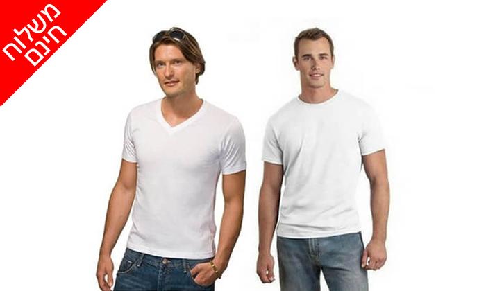 6 דיל ל-72 שעות- סט 9 חולצות טי לגברים SANTA BARBARA POLO CLUB - משלוח חינם