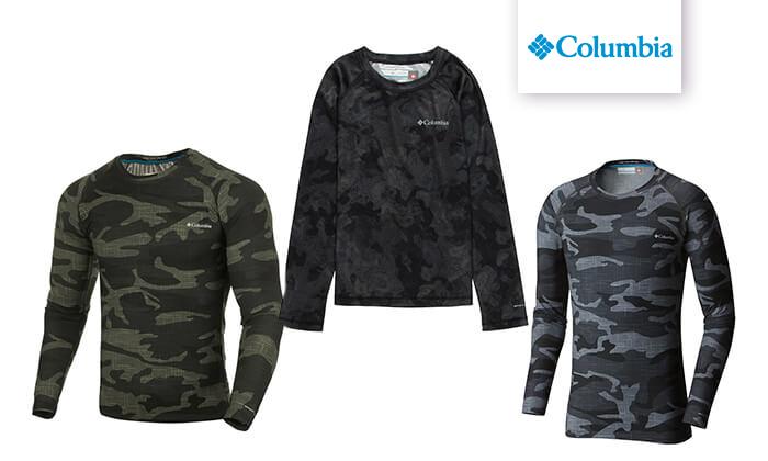 3 חולצה תרמית ארוכה לגברים Columbia