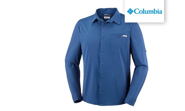 3 חולצה מכופתרת ארוכה לגברים Columbia