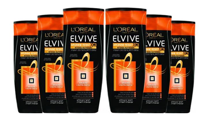 2 מארז 6 בקבוקי שמפו לוריאל L'OREAL ELVIVE