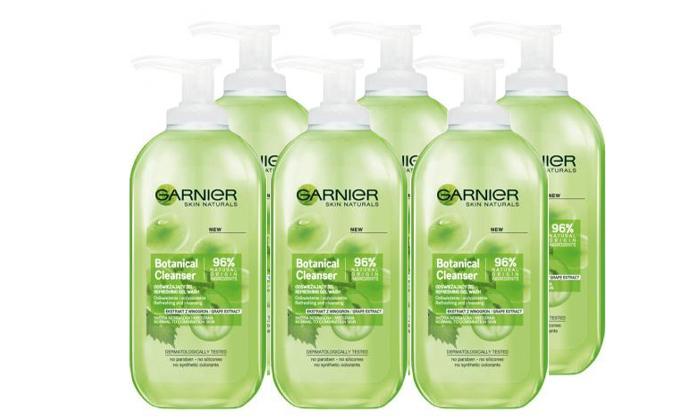 4 מארז 6 יחידות ג'ל ניקוי לעור הפנים Garnier Essentials