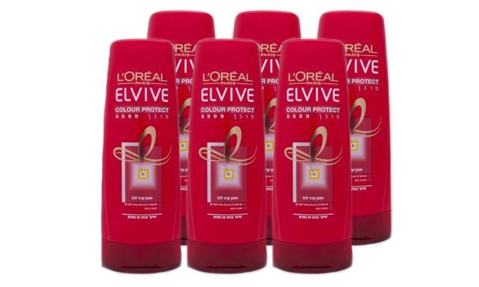 2 מארז 6 יחידות מרכך לשיער צבוע ELVIVE color protect