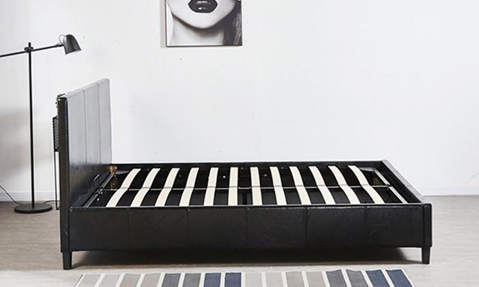 3 מיטה זוגית מרופדת LEONARDO, דגם קרולינה