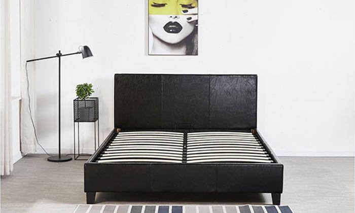 7 מיטה זוגית מרופדת LEONARDO, דגם קרולינה