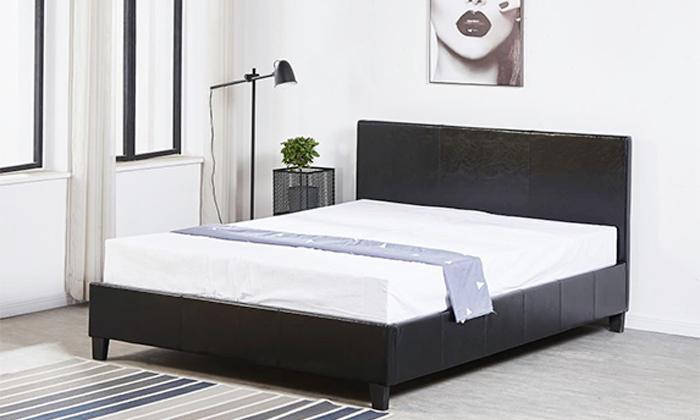 9 מיטה זוגית מרופדת LEONARDO, דגם קרולינה
