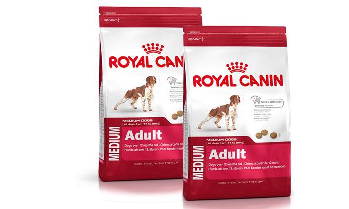 3 זוג שקי מזון לכלבים בוגרים Royal Canin