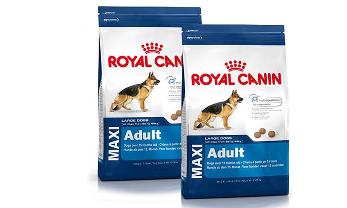 4 זוג שקי מזון לכלבים בוגרים Royal Canin