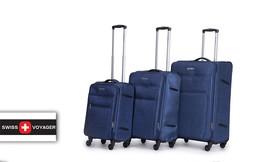 סט שלוש מזוודות רכות SWISS