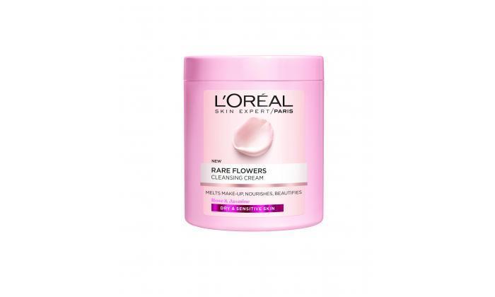 3 6 יחידות קרם ניקוי לעור יבש Rare flowers של L'Oréal Paris
