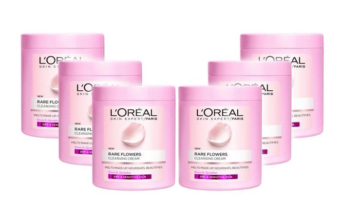 2 6 יחידות קרם ניקוי לעור יבש Rare flowers של L'Oréal Paris
