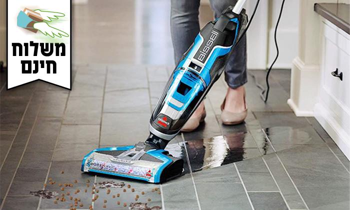 6 שואב אבק ושוטף רצפות BISSELL - משלוח חינם