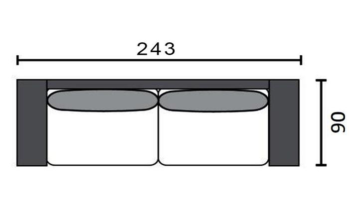8 שמרת הזורע: ספה תלת מושבית נפתחת