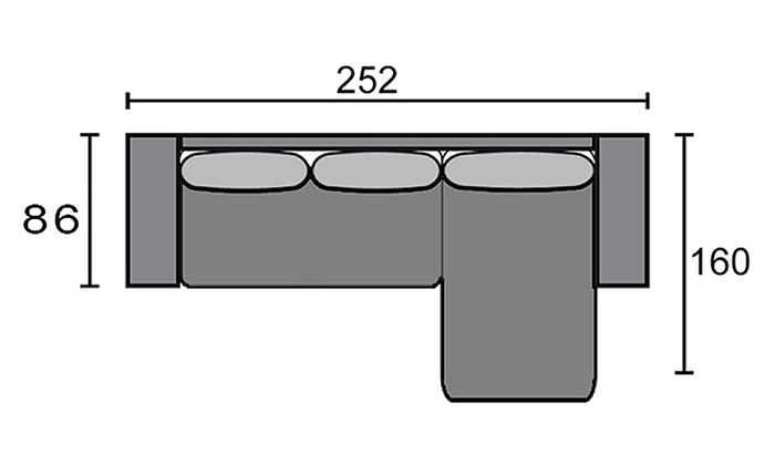 7 שמרת הזורע: ספה פינתית גדולה נפתחת