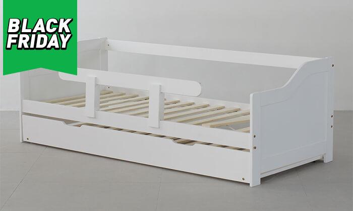 6 מיטת ילדים מעץ מלא TUTTI