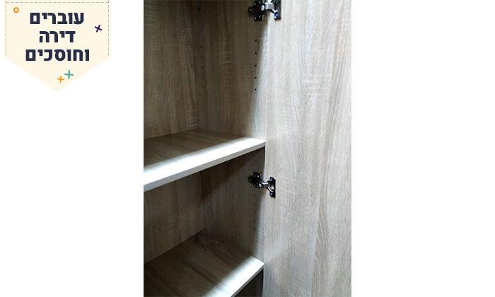 8 ארון מדפים עם דלת מראה Homax - צבעים לבחירה