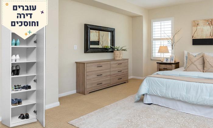 3 ארון מדפים עם דלת מראה Homax - צבעים לבחירה