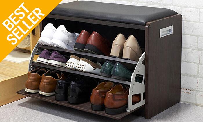 15 שידת התארגנות עם מקום לנעליים