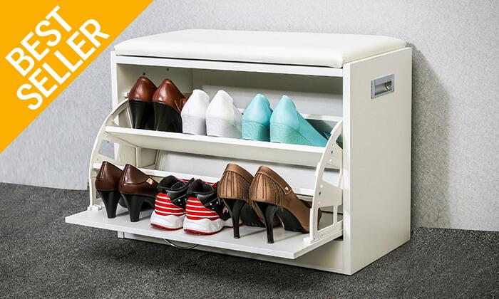 3 שידת התארגנות עם מקום לנעליים