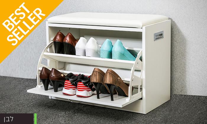 11 שידת התארגנות עם מקום לנעליים