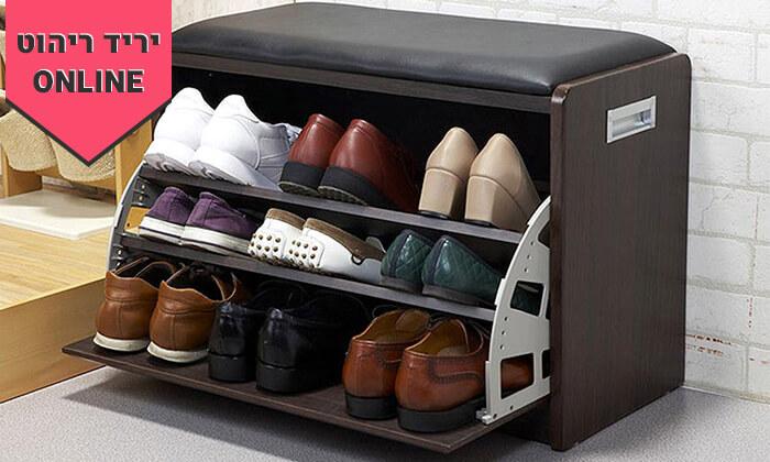 23 שידת התארגנות עם מקום לנעליים