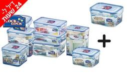 9 קופסאות פלסטיק LOCK & LOCK