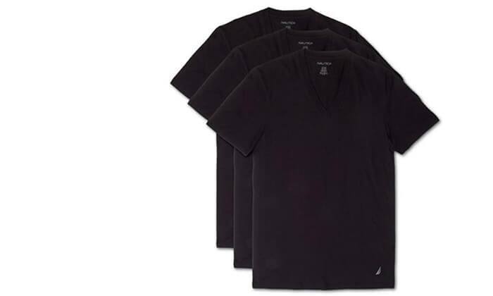 4 מארז 6 חולצות נאוטיקה לגבר- צווארון וי