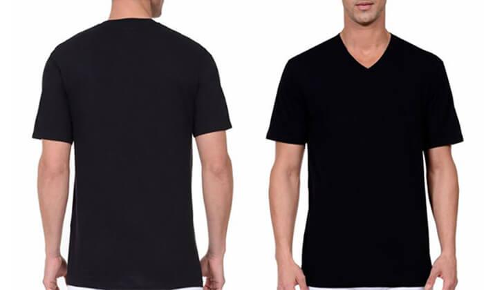 5 מארז 6 חולצות נאוטיקה לגבר- צווארון וי