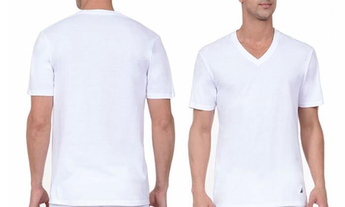 7 מארז 6 חולצות נאוטיקה לגבר- צווארון וי
