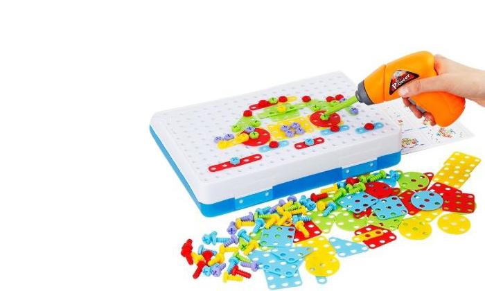 3 משחק הרכבה תלת מימדי חשמלי לילדים