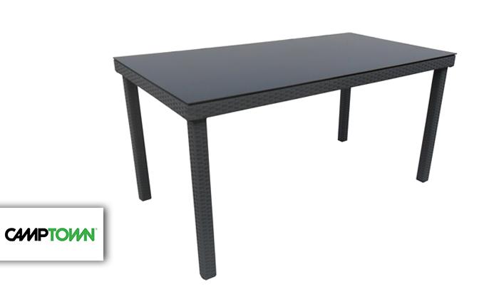 2 שולחן ראטן וזכוכית CAMPTOWN