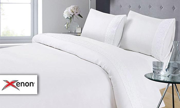סט מצעים 4 חלקים למיטה זוגית XENON - משלוח חינם
