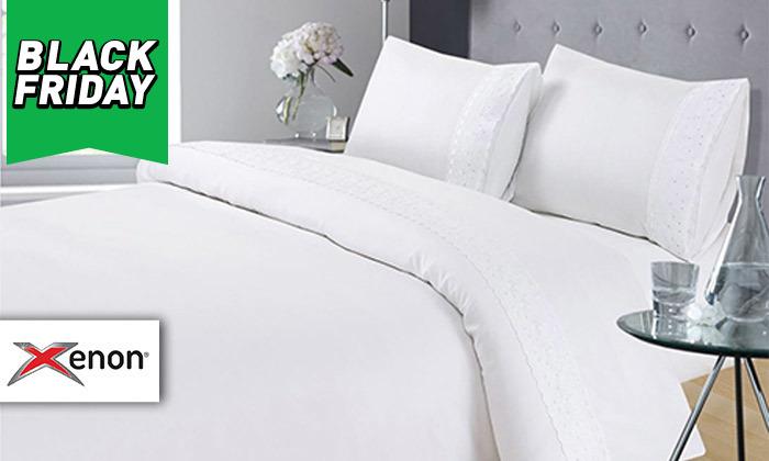 2 סט מצעים 4 חלקים למיטה זוגית XENON - משלוח חינם