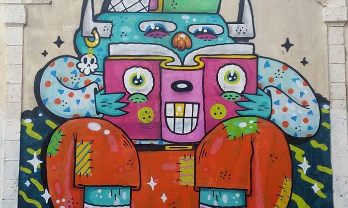 2 סיור בתערוכת אמנות רחוב 'הקומה השביעית', תחנה מרכזית - תל אביב