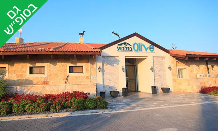 7 חבילת עיסוי וספא במלון אוליב Olive, הגלבוע