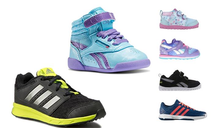 2 נעלי Adidas ו-Reebok לילדים ונוער