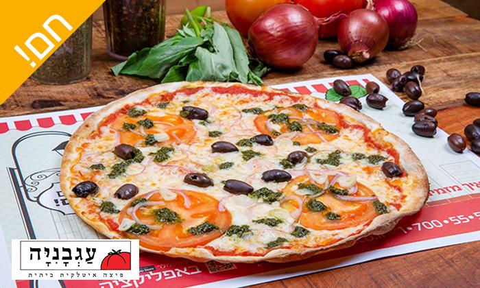 2 פיצה עגבניה - מגש פיצה XL בסניפי הרשת