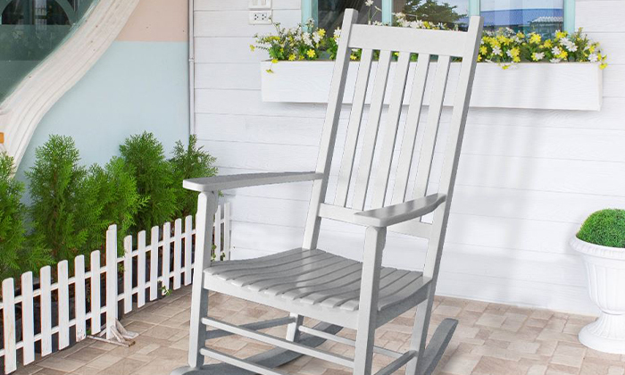 4 כיסא נדנדה מעץ במבחר צבעים