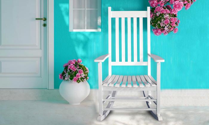 2 כיסא נדנדה מעץ במבחר צבעים
