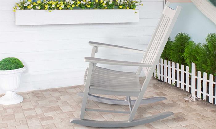 3 כיסא נדנדה מעץ במבחר צבעים