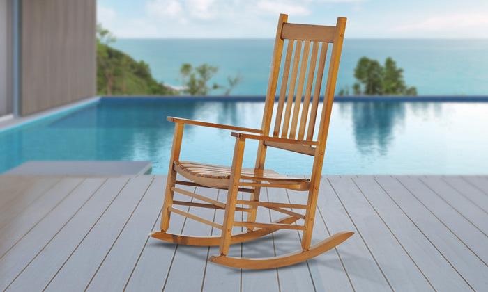 5 כיסא נדנדה מעץ במבחר צבעים