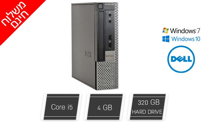 2 מחשב נייח מחודש דל DELL דגם 990 מסדרת OptiPlex עם מעבד i5 - משלוח חינם