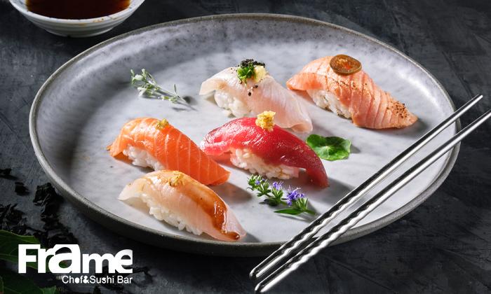 2 פריים שף וסושי בר Frame Chef&Sushibar ברמת החייל - Omakase ארוחה יפנית זוגית