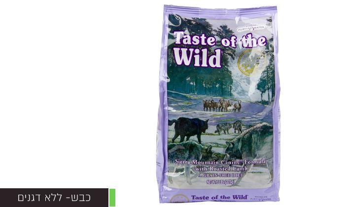 """6 2 שקי מזון יבש לכלבים Taste of the Wild במשקל 12.2 ק""""ג"""