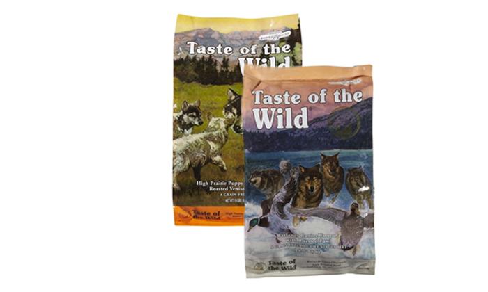"""9 2 שקי מזון יבש לכלבים Taste of the Wild במשקל 12.2 ק""""ג"""