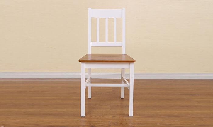 4 פינת אוכל עם 4 כיסאות עץ מלא BRADEX
