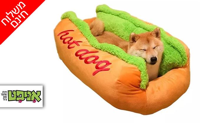 2 מיטת נקניקייה לכלבים - משלוח חינם
