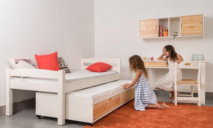 8 מיטה לילדים עם מיטת חבר מעץ מלא Highwood