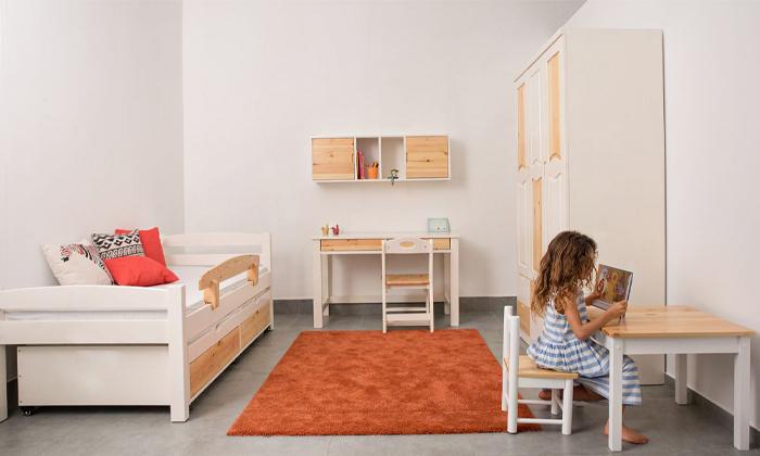 4 מיטה לילדים עם מיטת חבר מעץ מלא Highwood
