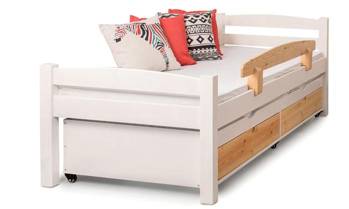 3 מיטה לילדים עם מיטת חבר מעץ מלא Highwood