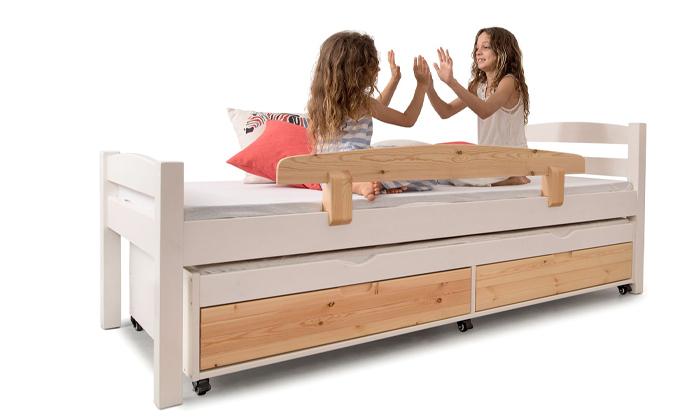 6 מיטה לילדים עם מיטת חבר מעץ מלא Highwood